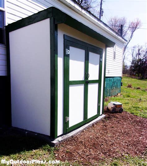diy 4x8 storage shed diy 4x8 lean to shed with doors myoutdoorplans
