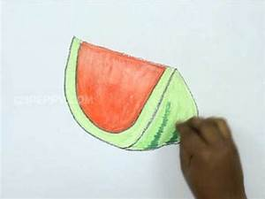 How to Draw a Colorful Watermelon - YouTube