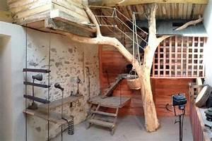 Arbre En Bois Deco : cabane l arbre entre dans la chambre esprit cabane ~ Premium-room.com Idées de Décoration