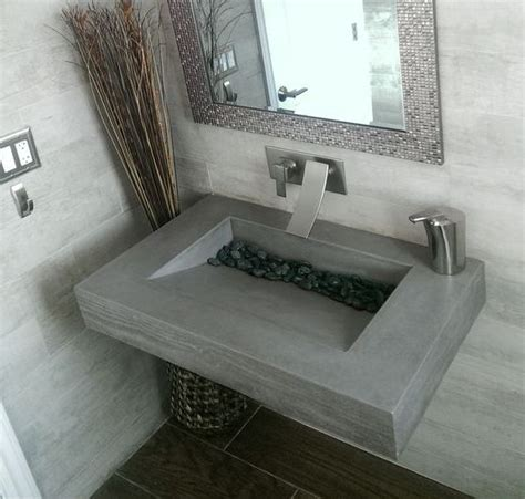 Inexpensive Modern Bathroom Sinks by Inexpensive Handmade Bathroom Concrete Sink Design Idea