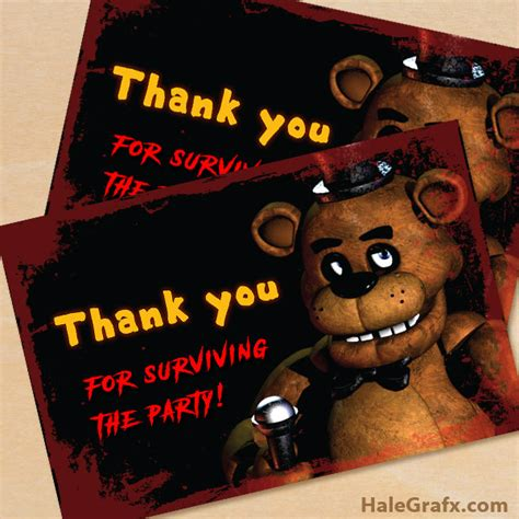 Redeemable online or on the free mobile app for any movie at any fandango theater including amc, regal, cinemark, marcus and more. FREE Printable Five Nights at Freddy's Thank You Card