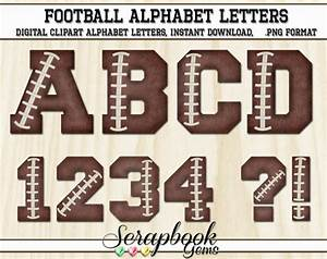 sports football letters numbers clipart 40 high quality With football letters and numbers