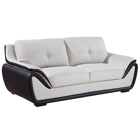 Grey Black Bonded Leather Sofa Ebay