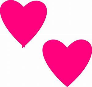 Hot Pink Double Hearts Clip Art at Clker.com - vector clip ...