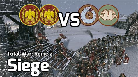 2 total war siege total war rome 2 battle 22 2v2 siege froze