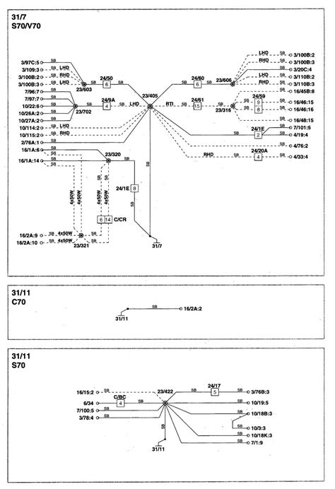 volvo s70 1998 2000 wiring diagrams ground