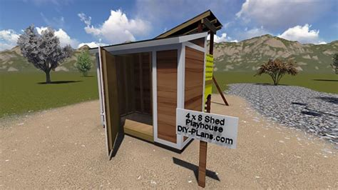 sheds and swings swing set and 4x8 storage shed plan