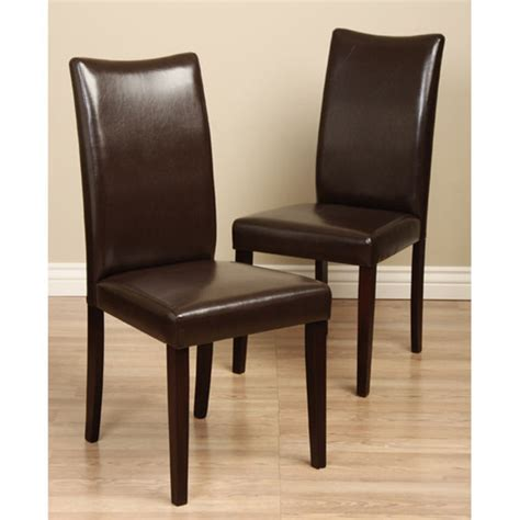 Leather Dining Chairs In Black, Brown, Red And White