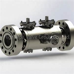 China Trunnion Mounted Dbb Double Block And Bleed Ball