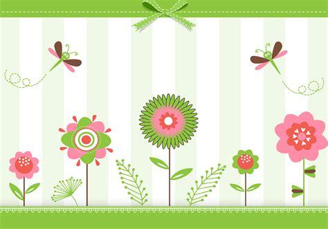 green floral greeting card vector   vectors