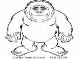 Bigfoot Coloring Pages Drawing Finding Getdrawings Coloringhome sketch template