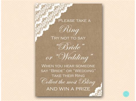 burlap  lace bridal shower games package magical