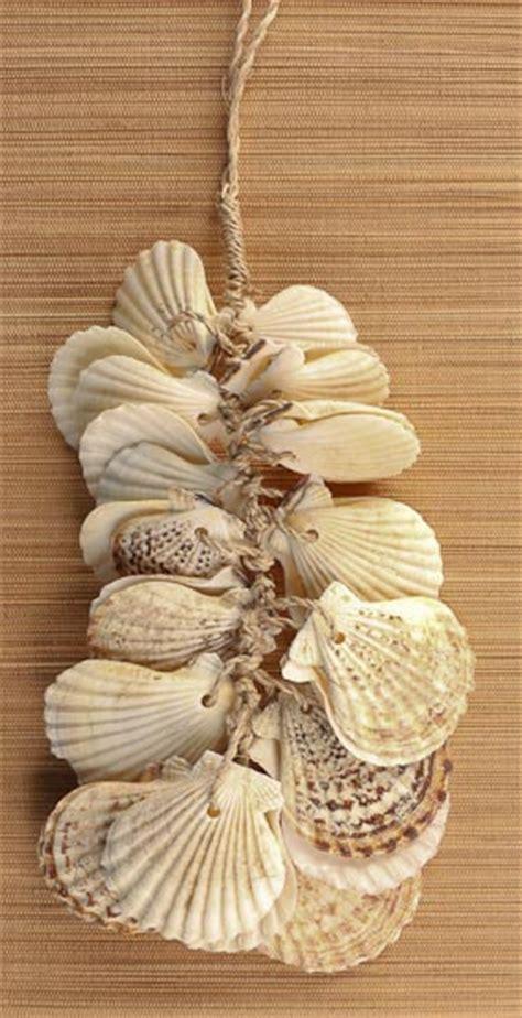 natural clam seashell hanging spray coastal decor home decor factory direct craft