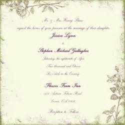 wedding invitation wording sles dili 39 s sle of wedding invitation
