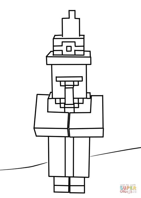 Coole Minecraft Witch Kleurplaat by Minecraft Witch Coloring Page Free Printable Coloring Pages