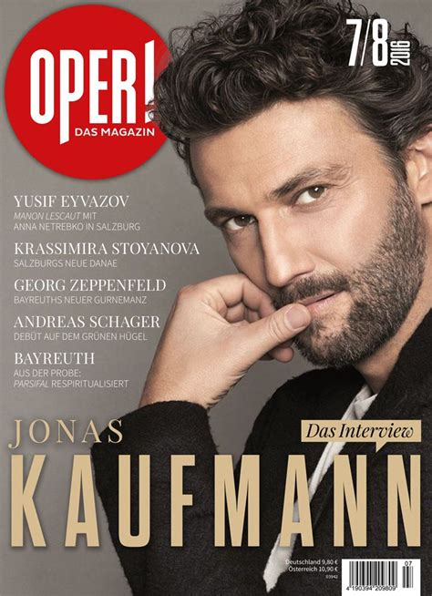 pin  linda buster  opera lover jonas kaufmann