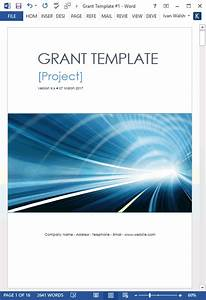 Sample Program Budget Template Grant Proposal Template Ms Word Excel Templates Forms