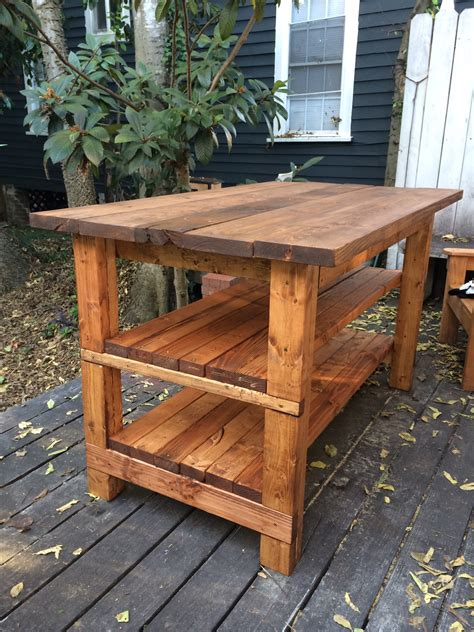 hand built rustic kitchen island house food baby