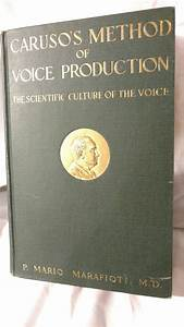 Caruso U0026 39 S Method Of Voice Production  The Scientific