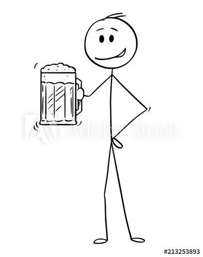"""Cartoon stick drawing conceptual illustration of man"