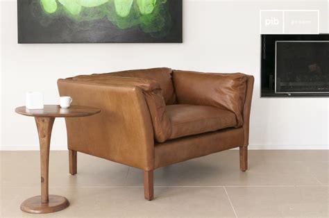 fauteuil en cuir fauteuil en cuir hamar el 233 gance du design vintage pib