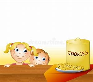 Kids Stealing Cookies stock illustration. Illustration of ...
