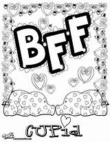 Coloring Pages Bff Printable Friends Sheets Friend Letters Adult Adults Cupid Bubble Drawing Forever Teenagers Books Teens Colouring Clip Sheet sketch template