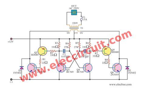 Simple Inverter Schematic Diagram Use Eleccircuit