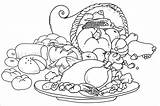 Coloring Thanksgiving Pages Printable Dinner Turkey Meal Table Feast Drawing Pdf Spanish Christian Printables Sketch Thanks Pilgrims Drawings Getdrawings Getcolorings sketch template