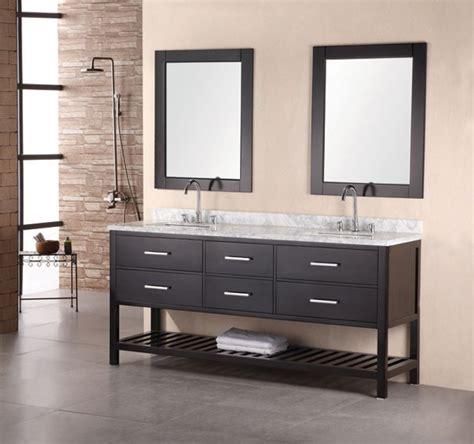 Bathroom Vanity - 72 inch modern white marble sink bathroom vanity in
