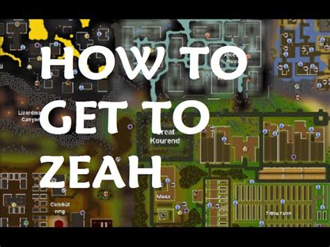 how to get how to get to great kourend zeah osrs
