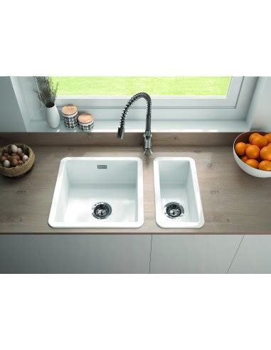 ceramic undermount kitchen sinks 1 5 metro by thoms denby met1030 0 5 bowl ceramic sink 8119