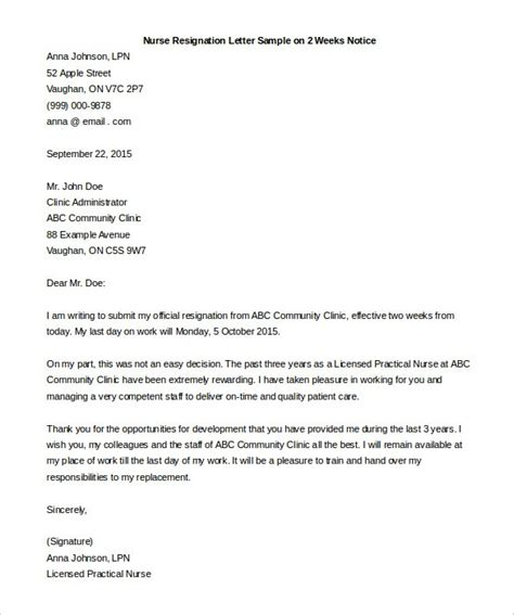 resignation letter  week notice gplusnick