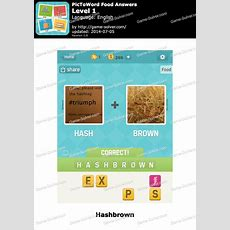 Pictoword Food Answers  Game Solver