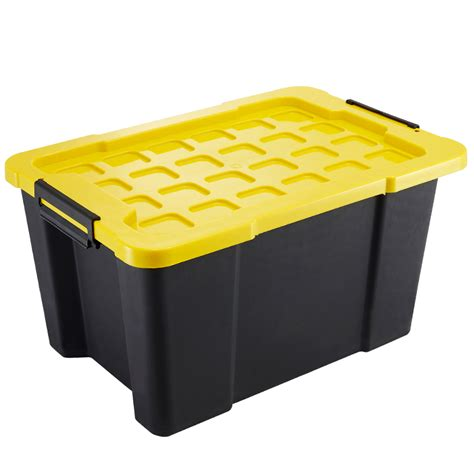 plastic storage tub montgomery 60l heavy duty storage container bunnings