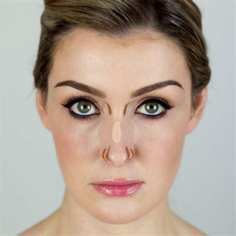 contouring noses      lines   side   nose hannahs makeup