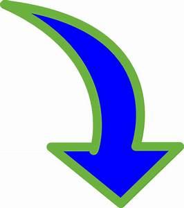 Curved-arrow-bright-blue-small Clip Art at Clker.com ...