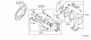 Nissan Sentra Disc Brake Abutment Clip Set  Disc Brake Pad