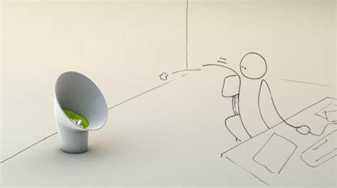 poubelle bureau design la corbeille à papier design spécial lancer de boulettes