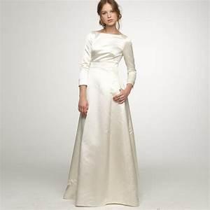 long sleeve satin wedding dress all women dresses With satin sleeve wedding dress