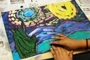 Van Gogh Painting Starry Night Art Lesson