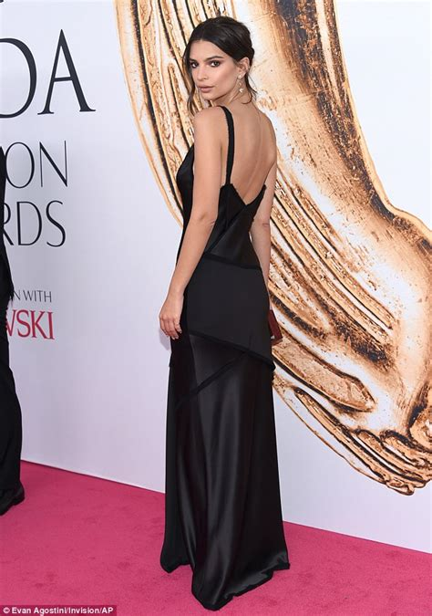 Emily Ratajkowski in silk gown at CFDA Fashion Awards in ...