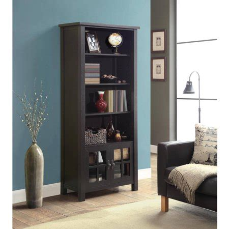 Bookcase Tower by Whalen 72 Quot Audio Tower Bookcase With Doors Espresso