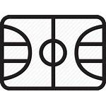 Basketball Court Clipart Icon Icons Hall Silversneakers