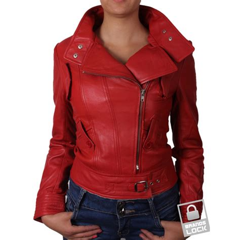 red leather motorcycle jacket red leather jacket womens coat nj