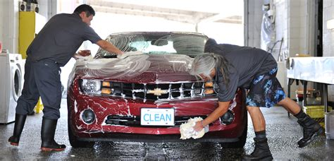 washes cars  man  machine   car wash