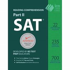 Sat Reading Comprehension, Part Ii Accelerated Practice Walmartcom