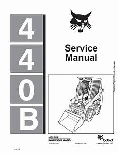 Bobcat 440b Loader Service Manual Pdf