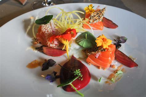 restaurant cuisine moleculaire saumon gravlax auberge du pont 15