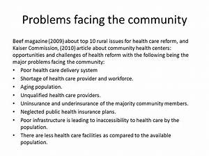 PROBLEMS FACING THE COMMUNITY AND THE ACTION PLAN. - ppt ...